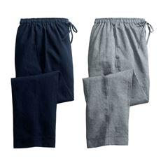久留米ちぢみ織イージーパンツ(色違い2枚組)