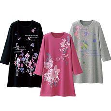 プリント7分袖Tシャツ(色柄違い3枚組)
