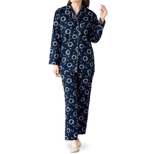 日本製のサテンパジャマ(綿100%)