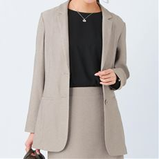 【ぽっちゃりさんサイズ】テーラードジャケット(UVカット・接触冷感・防シワ)