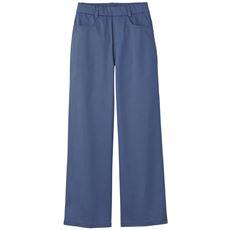 【ぽっちゃりさんサイズ】接触冷感サテンセミワイドパンツ