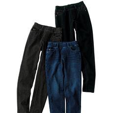 【ぽっちゃりさんサイズ】ニットデニムスキニーパンツ(スマートニットジーンズ)