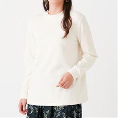 【ぽっちゃりさんサイズ】やさしい着心地のモックネックTシャツ(綿混・洗濯機OK)