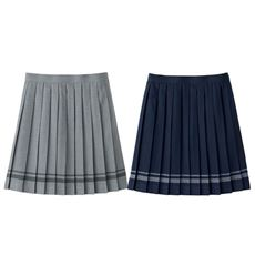 日本製ライン入りプリーツスカート(洗濯機OK)(スクール・制服)