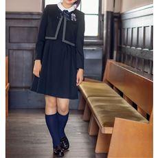 卒業式・入学式に!ワンピース&ボレロスーツ4点セット(スクール・制服)