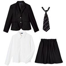 卒業式・入学式に!細プリーツスカートスーツ4点セット(スクール・制服)