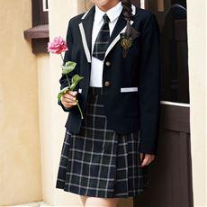 SPIRAL GIRL スーツ5点セット(はっ水加工・防汚加工)(ジャケット+シャツ+スカート+エンブレム+ネクタイ)(スクール・制服)