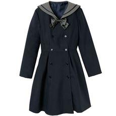 セーラーカラーワンピース(取り外せるリボン付き)(スクール・制服)