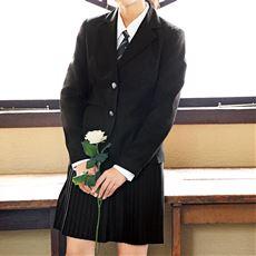 細プリーツスカートスーツ4点セット(ジャケット+シャツ+スカート+ネクタイ)(スクール・制服)