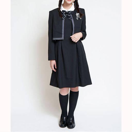 ワンピース&ボレロスーツ4点セット(エンブレム+リボン付き)(スクール・制服)