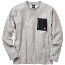 胸ポケット付き長袖Tシャツ(ロゴスパーク)