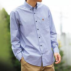 ジャストライトコットン高密度シャツ(長袖)
