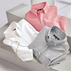 上質仕立てのオックスフォードシャツ(長袖)オーガニックコットンを100%使用