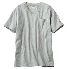 綿100%VネックTシャツ(半袖)/オーガニックコットン使用素材