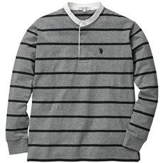 綿100%バンドカラーラガーシャツ
