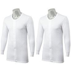 長袖前開きシャツ(2枚組)