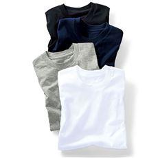 2枚組 綿100%クルーネックTシャツ/肌触りさらり(半袖)
