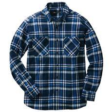 綿100%チェック柄ヘビーツイル素材シャツ