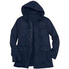 撥水・ストレッチ・フード付きジャケット