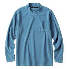 スマートヒート・フリースハイネック長袖Tシャツ 吸湿発熱素材+静電気軽減テープ使い