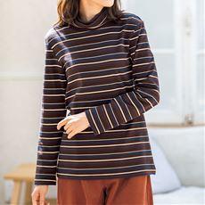配色ルーズネックTシャツ(綿100%)
