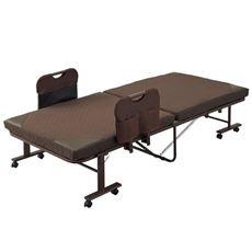【設置】折りたたみベッド(手すり付きハイタイプ)/14段階リクライニング