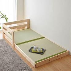 【組立+設置】ひのきフロアい草ベッド(並べて使える)