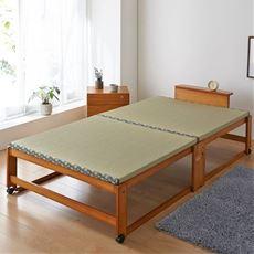【組立+設置】木製折りたたみベッド(畳タイプ)