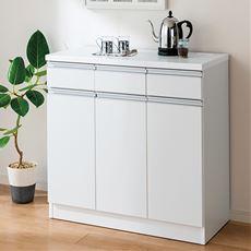 【設置】キッチンカウンター(シンプルタイプ)/背の高いシンク横にも対応 高さ89cm