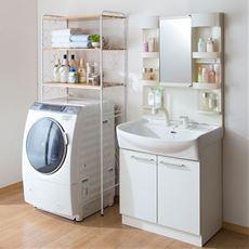 【組立+設置】洗濯機ラック(アイアン)