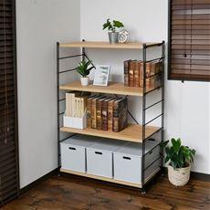 シンプルシェルフ(木製棚4枚)
