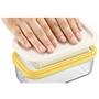 (2)バターをワイヤープレートの上に置く。