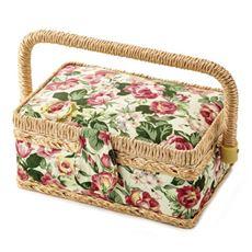 バラ柄の裁縫箱
