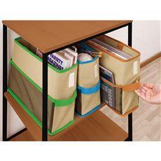 持ち運べる収納ボックス3色組
