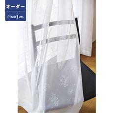 【オーダー】やや透け感のあるミラーレースカーテン(小花柄)