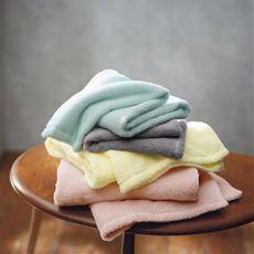 【今治産】空気のようなタオル(無撚糸) 女性の肌にやさしいタオル、こすらず吸水、軽くて、ふんわり。