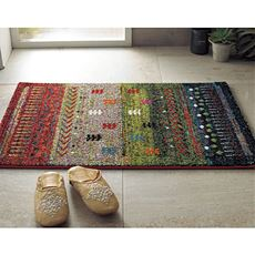 玄関マット(トルコ製ウィルトン織)/高級感のある高密度な毛足