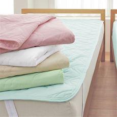 平織りパッドシーツ(表生地綿100%)/洗濯に強い丈夫な生地