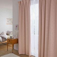 1級遮光カーテン(光沢のあるフラワー)