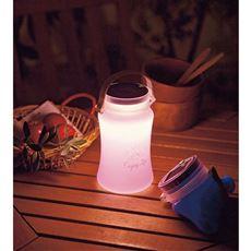 LEDランタン(ソーラー&USB充電式)/防水 シリコン製