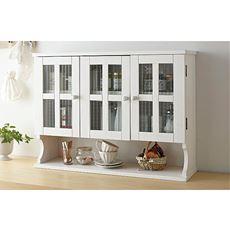 キッチンカウンターシリーズ/カウンター上の収納棚(天然木使用)