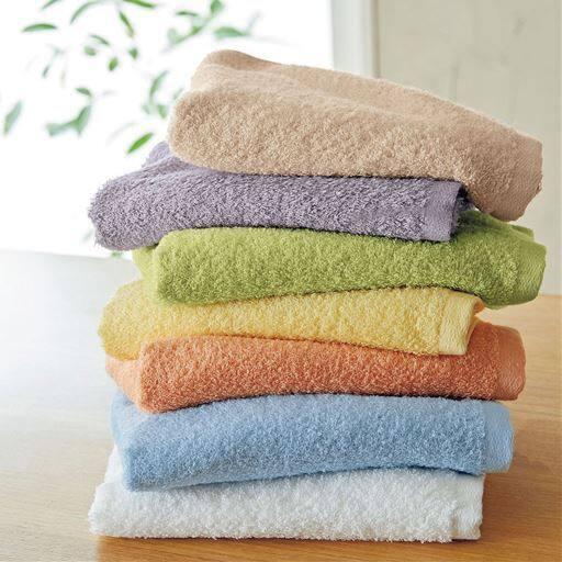 【今治産】軽くて柔らかいタオル(同色2枚組)  普段使いのタオルをちょっと良いものに