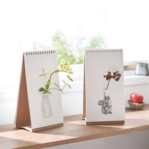 フリップベース(一輪挿し)/スケッチブック型花瓶