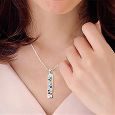 12誕生石&ダイヤモンドネックレス