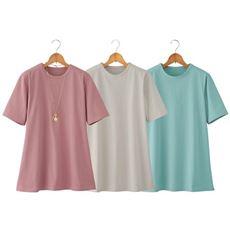 汗に負けない強撚綿100%Tシャツ(色違い3枚組)