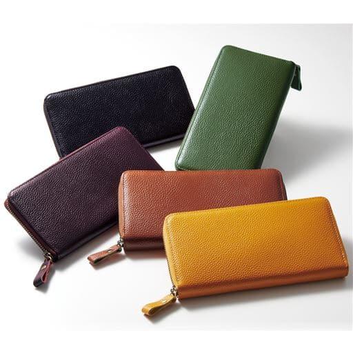 日本製豊岡工房牛革コインが分けられる長財布