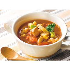 ミネストローネ(10食入)鶏肉とお豆のごろっとおかず/湯せん レンジでチン