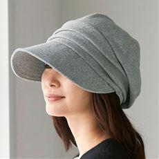 小顔に見える発熱蓄熱暖かUVキャスケット帽子<美活計画>