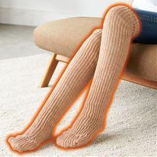 足先から膝上まで暖か シルクロングレッグウォーマー <美活計画>