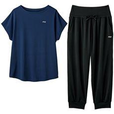 コーデを考える必要なしの上下セット!家周りで着るのも◎FILA 速乾UVカット(プルオーバー+パンツ)
